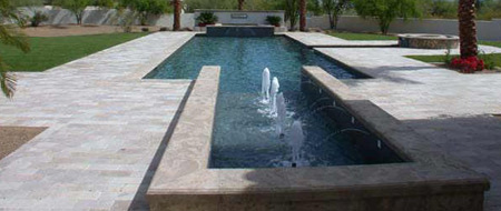 Swimming Pool w/ Attached Fountain