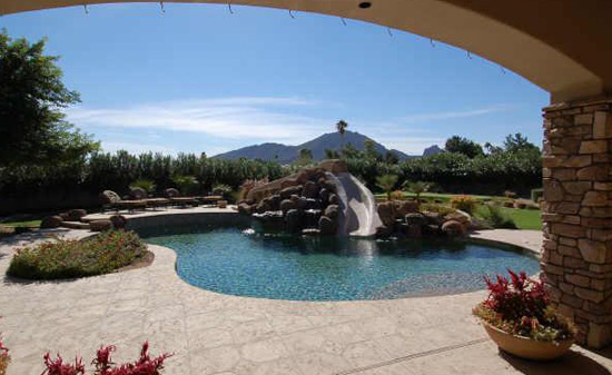 Pool in Mountains w/ Slide