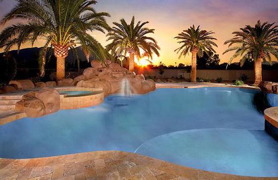 Swimming Pool at Sunset