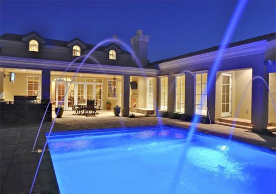 Swimming Pool with Blue Light